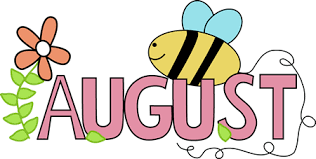 August Show and Tell Calendar/Snacks